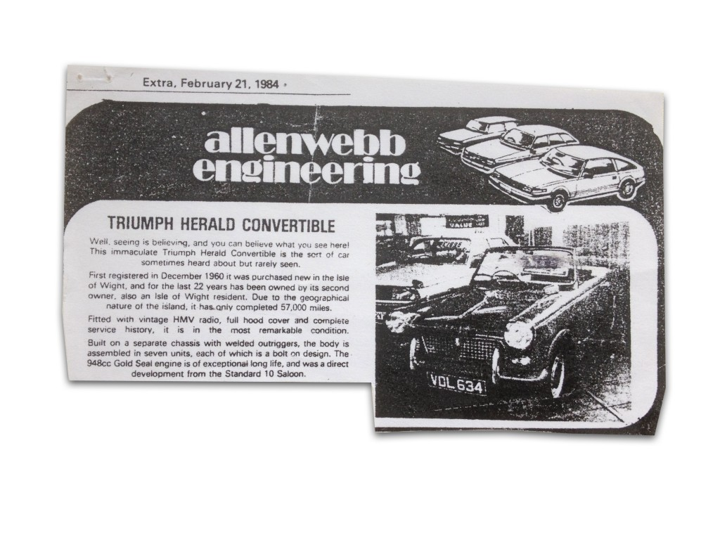 Allen Webb Engineering 1984 Advert