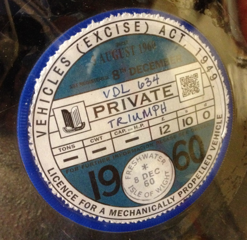Reproduction Tax Disc
