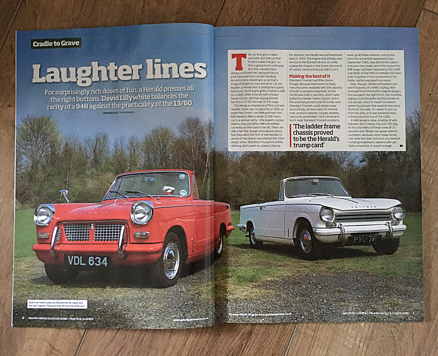 New Triumph Herald Magazine From Practical Classics The 948cc