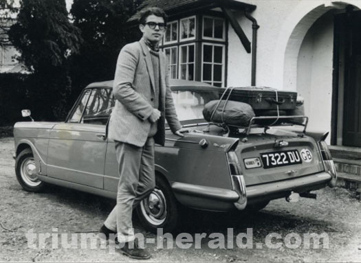 Guy Cooper and his  Triumph Herald