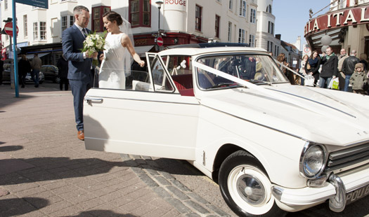 Triumph Herald Wedding Car