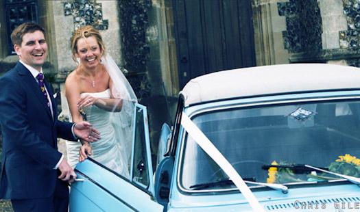 Triumph Herald Wedding Car