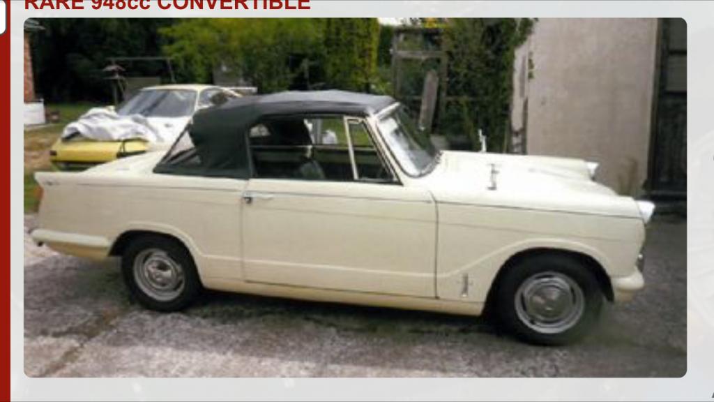 triumph herald 948 convertible