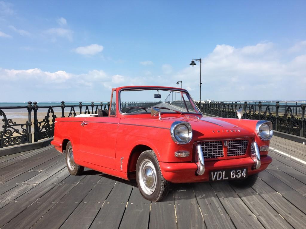 Ryde Pier, Isle of Wight, Triumph Herald