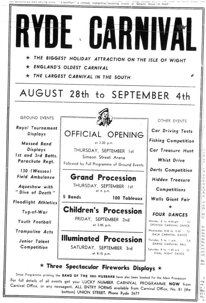 Ryde Carnival 1960