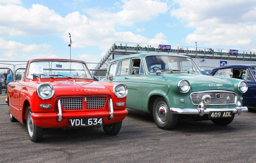 Triumph Herald and Standard Ensign