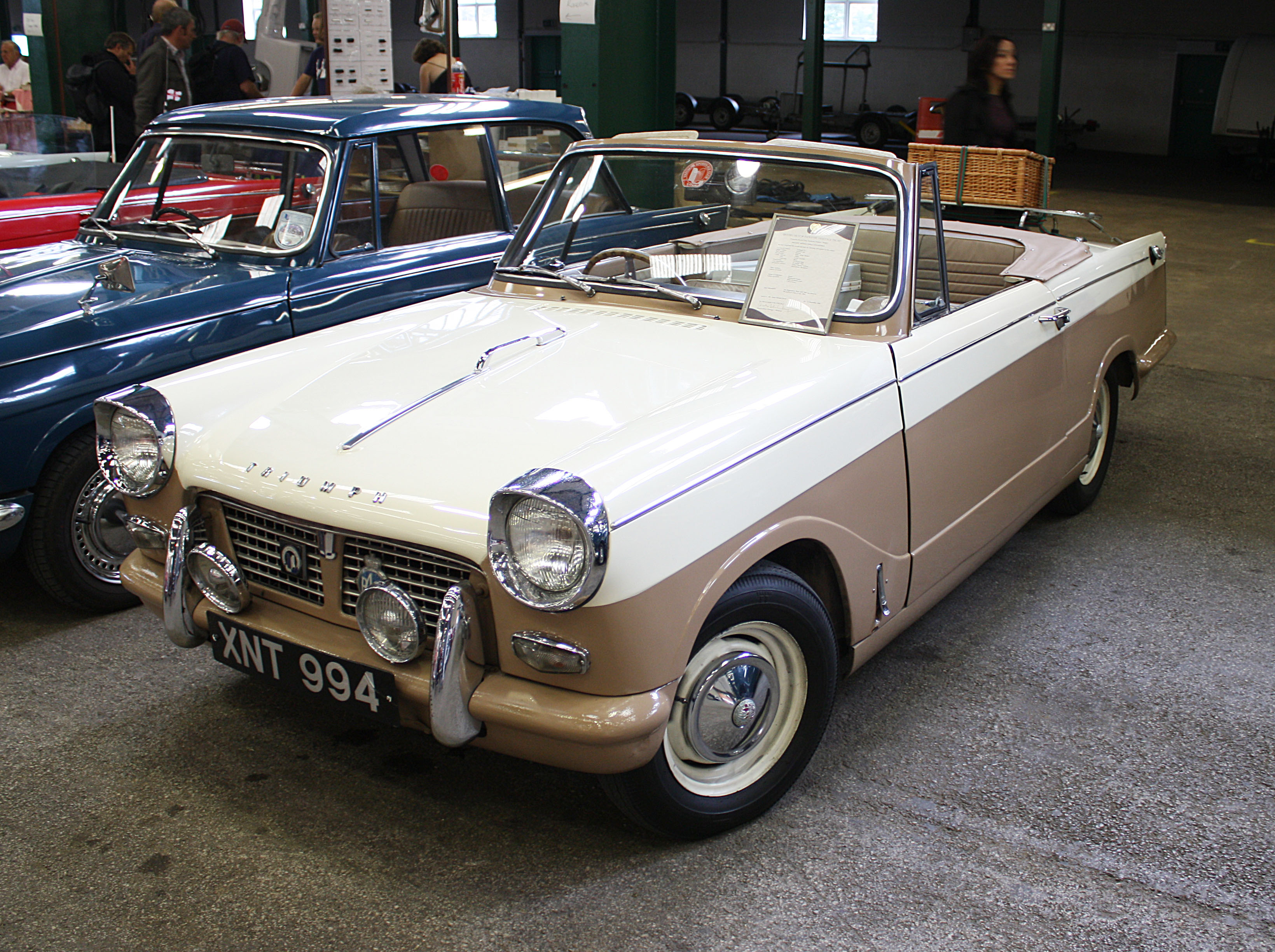 xnt994 uk triumph herald convertible